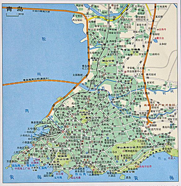 青岛地图_青岛地图图片