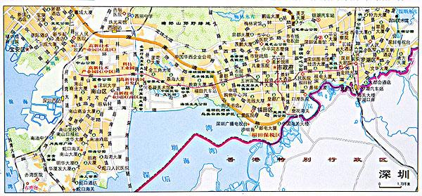 >深圳市地图图片