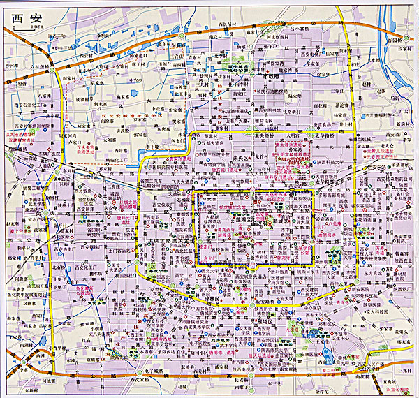 陕西西安地图