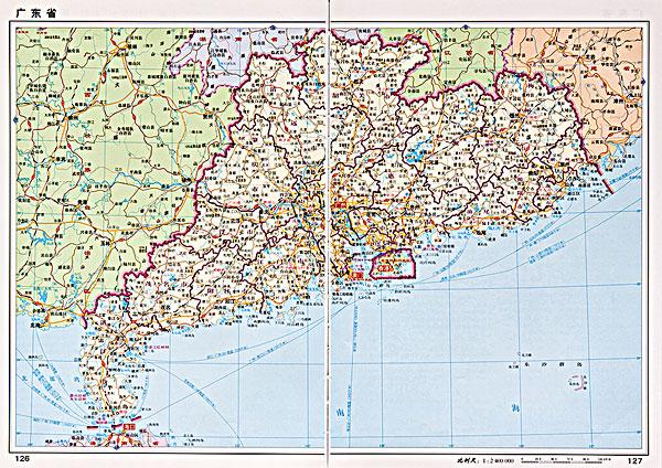 广东省地图全图