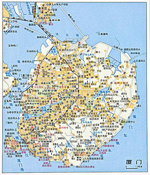 福建厦门地图