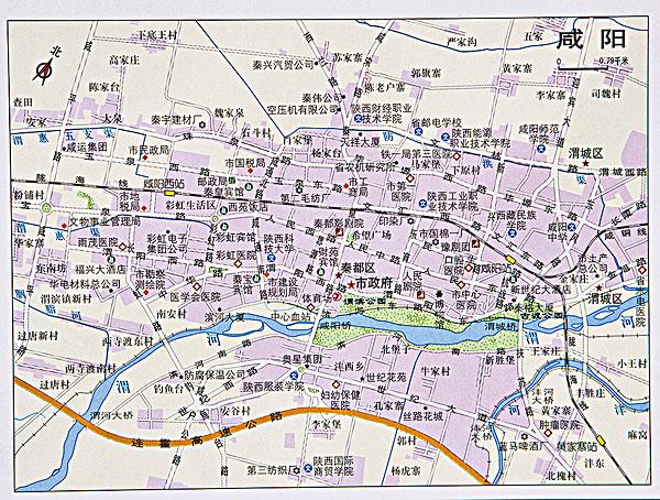 陕西咸阳地图