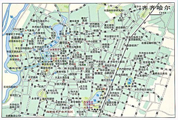 黑龙江齐齐哈尔地图