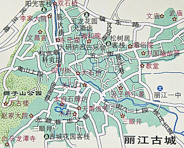云南丽江地图