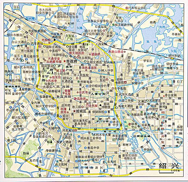浙江绍兴地图