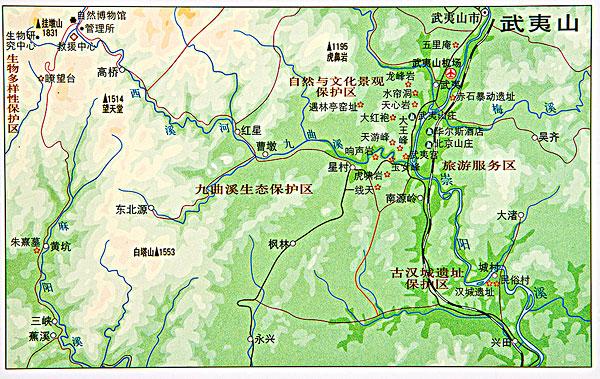 福建武夷山旅游图