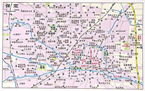 河北保定地图