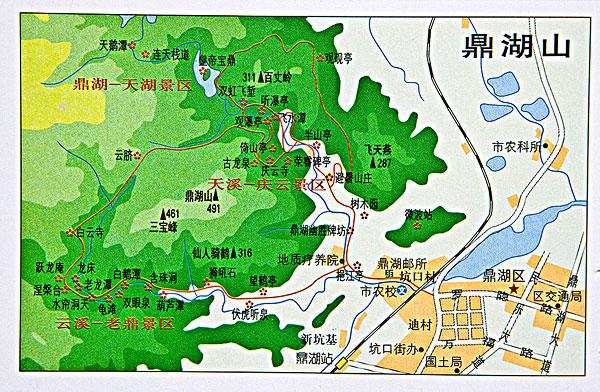 广东鼎湖山地图