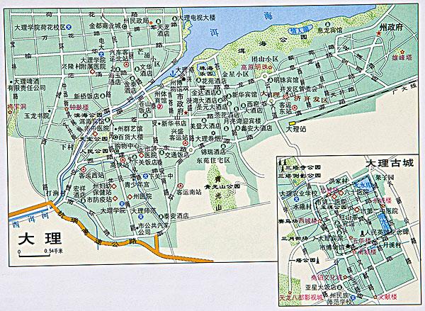 云南大理地图