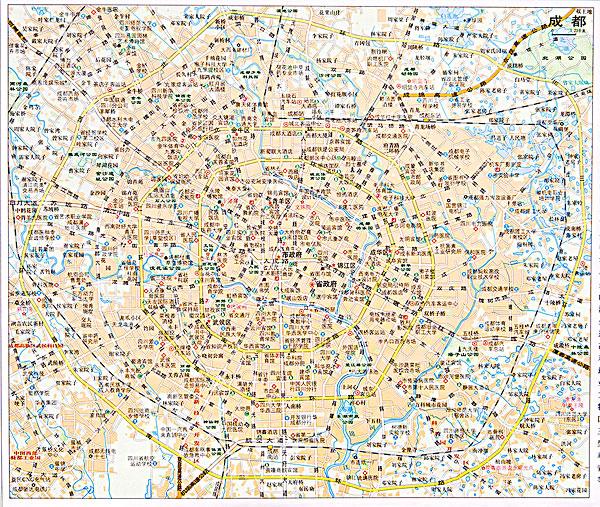 四川成都地图