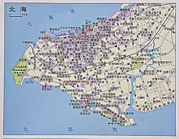 广西北海地图