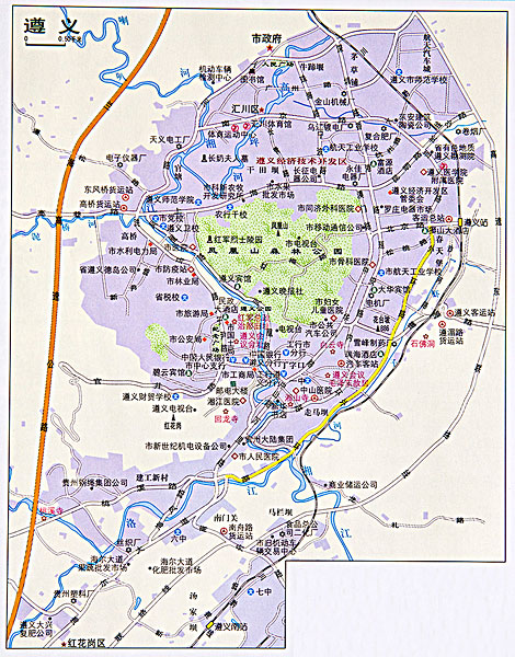 江西遵义地图