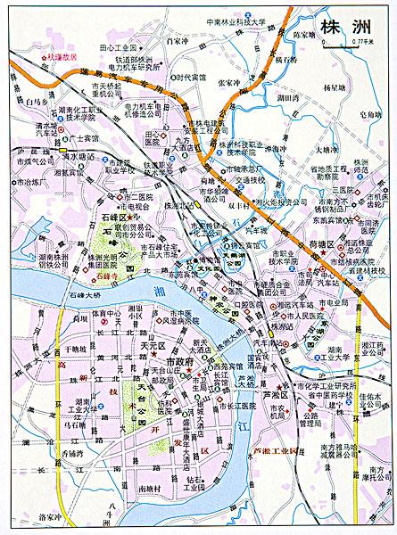湖南株洲地图