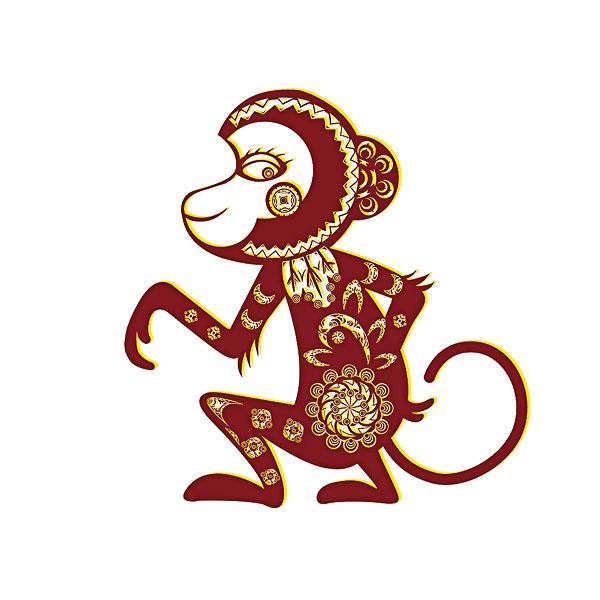 素材中国 矢量图猴子