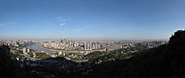 重庆渝中区半岛全景