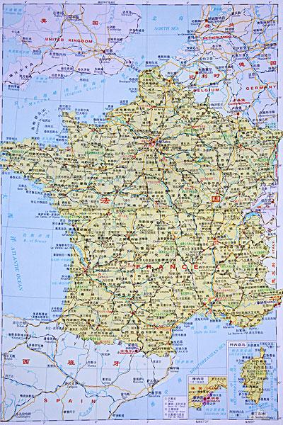 法国地图全图