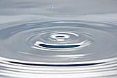 水滴,落下,水中