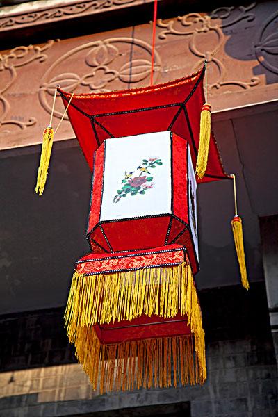 中国传统方形绘画灯笼