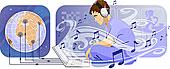 男人,下载,音乐,互联网