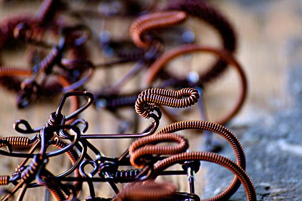 铜丝手工编织动物