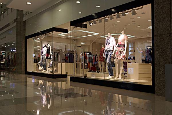 玻璃橱窗,展示窗,男女服装,混合图片