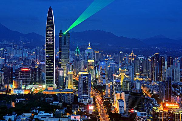 深圳城市建筑夜景