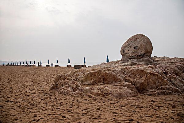 河北省秦皇岛北戴河海滨浴场沙滩
