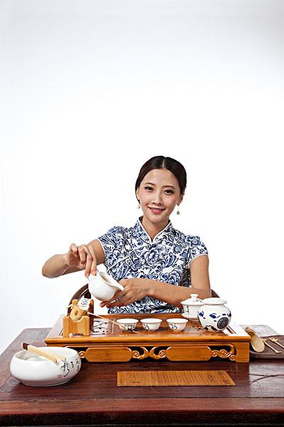 茶道女人图片欣赏
