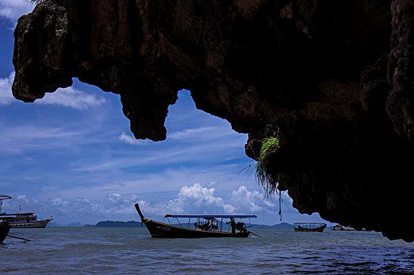 泰国普吉岛海上船只