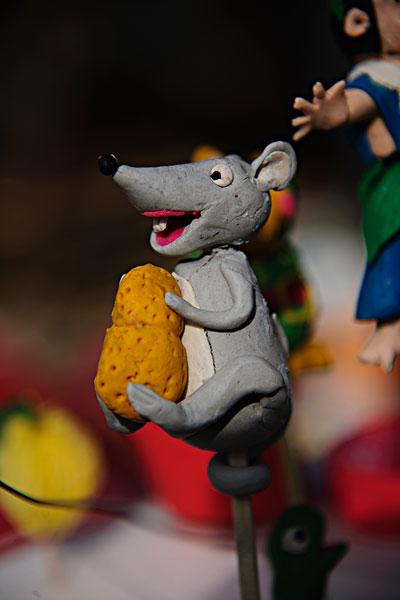 面塑工艺品老鼠