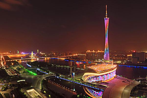 广州城市建筑风光