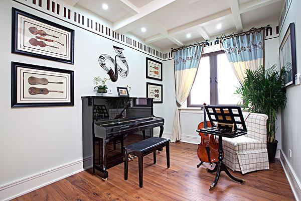 鋼琴房,家居,別墅,房地產,樣板間