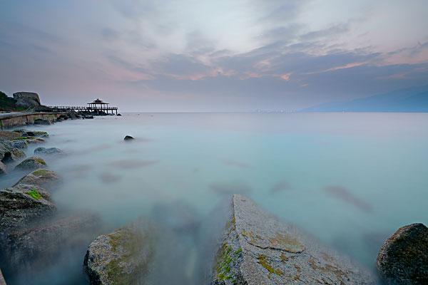 海南分界洲岛日落海滩