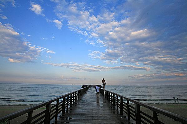 北戴河,沙滩,阳伞,夏日,浴场,游客,海边,海浪,海岸线,栈桥