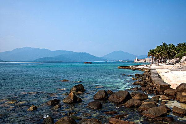 海南陵水分界洲岛前途无量景观海岸