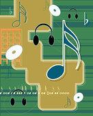 插画,音乐
