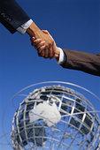 商务,握手,地球