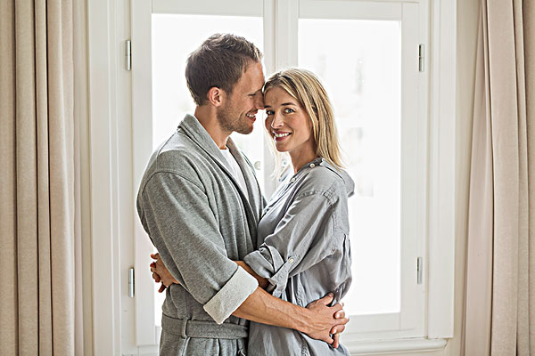 頭像,中年,夫妻,穿,長袍