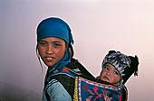 哈尼族,女人,婴儿,背影,云南,中国