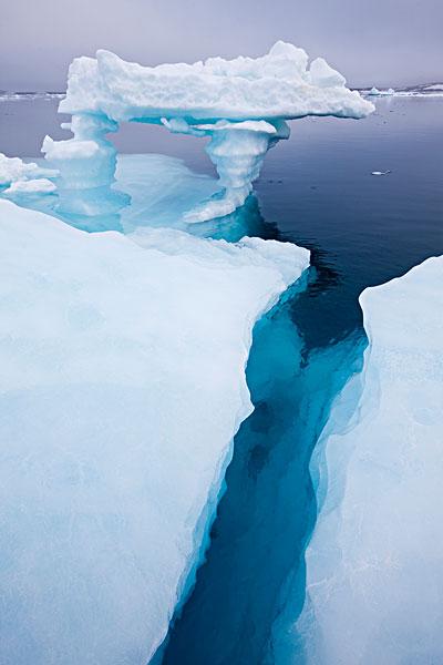挪威,斯瓦尔巴特群岛,融化,冰山,岛屿,雾,夏天,晚间