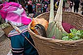 篮子,满,购买,市场,元阳,中国