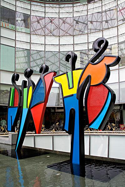 中心,商场,新加坡,东南亚,雕塑