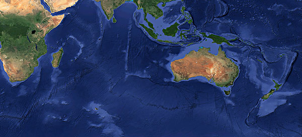 地球高清平面图大洋洲