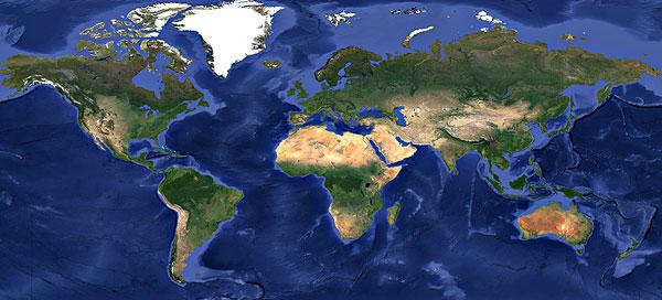 地球平面图