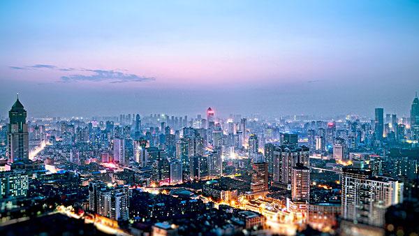 城市类夜景武汉