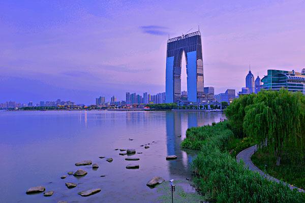 苏州金鸡湖_苏州金鸡湖图片