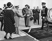 总统,妻子,问候,女王,爱丁堡公爵,南斯拉夫