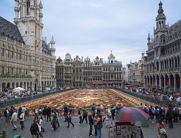 花坛,大广场,布鲁塞尔,比利时,欧洲