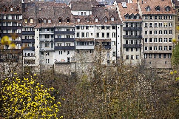 图片标题:线条,房子,老城,瑞士,俯视图