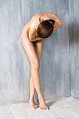 裸露,女人,遮盖,身体